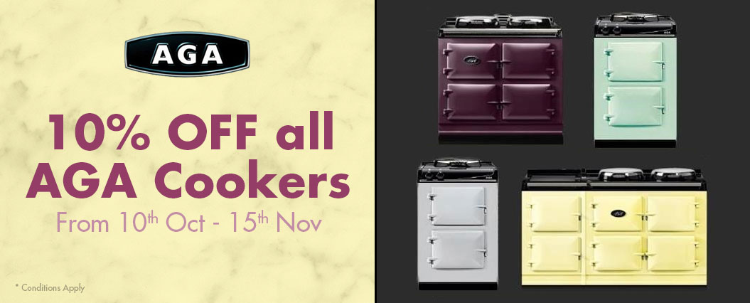 10% OFF all AGA Cookers