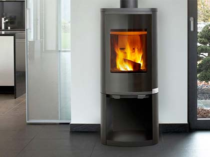 HeatnGlo Curve Wood Heater